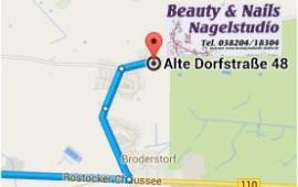 Anfahrt Beauty and Nails Neu Broderstorf